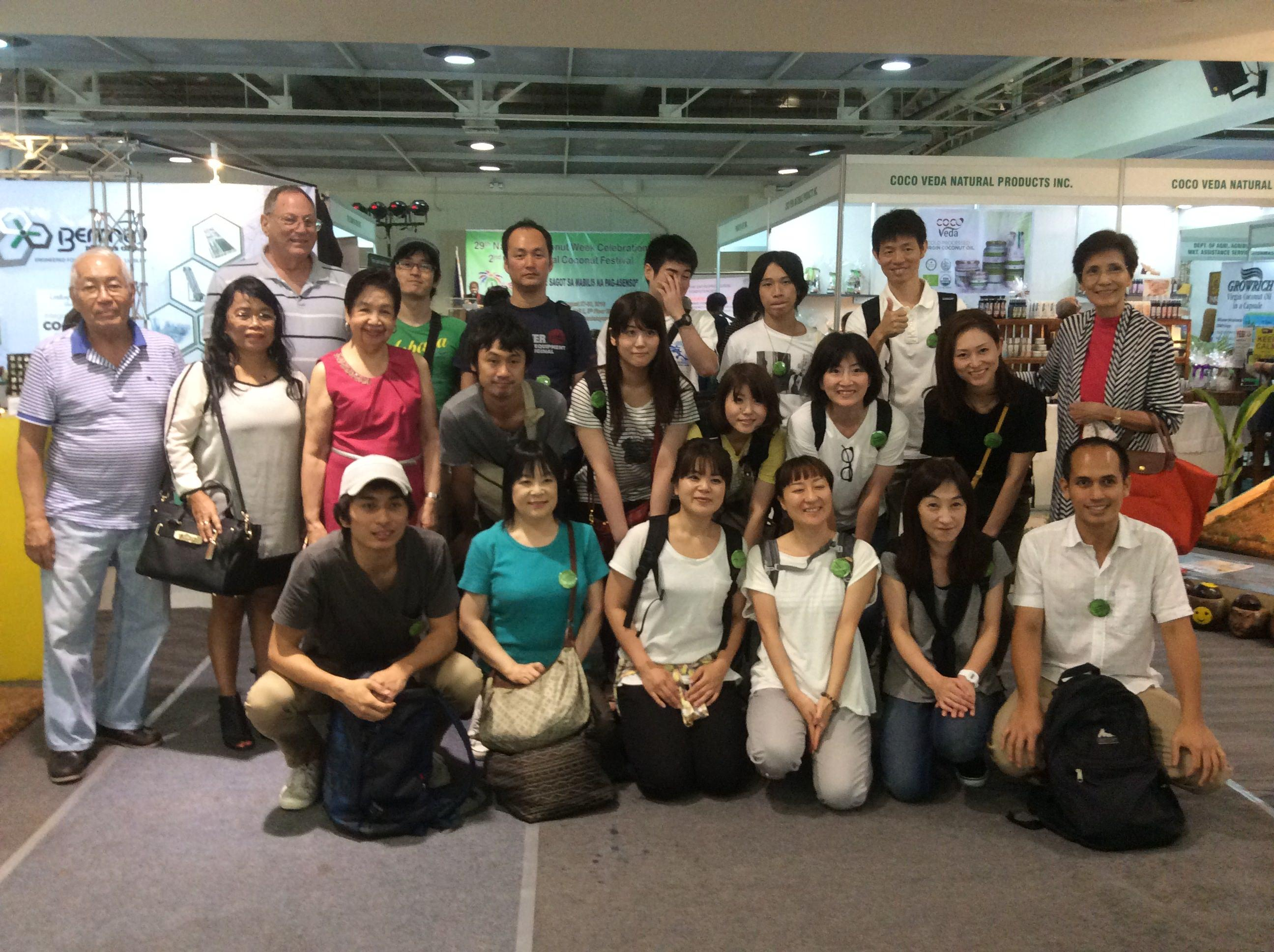 Visit of Japanese delegation during Coconut Week, Aug 27-30 at Megatrade Hall 2, SM Megamall, Mandaluyong City.