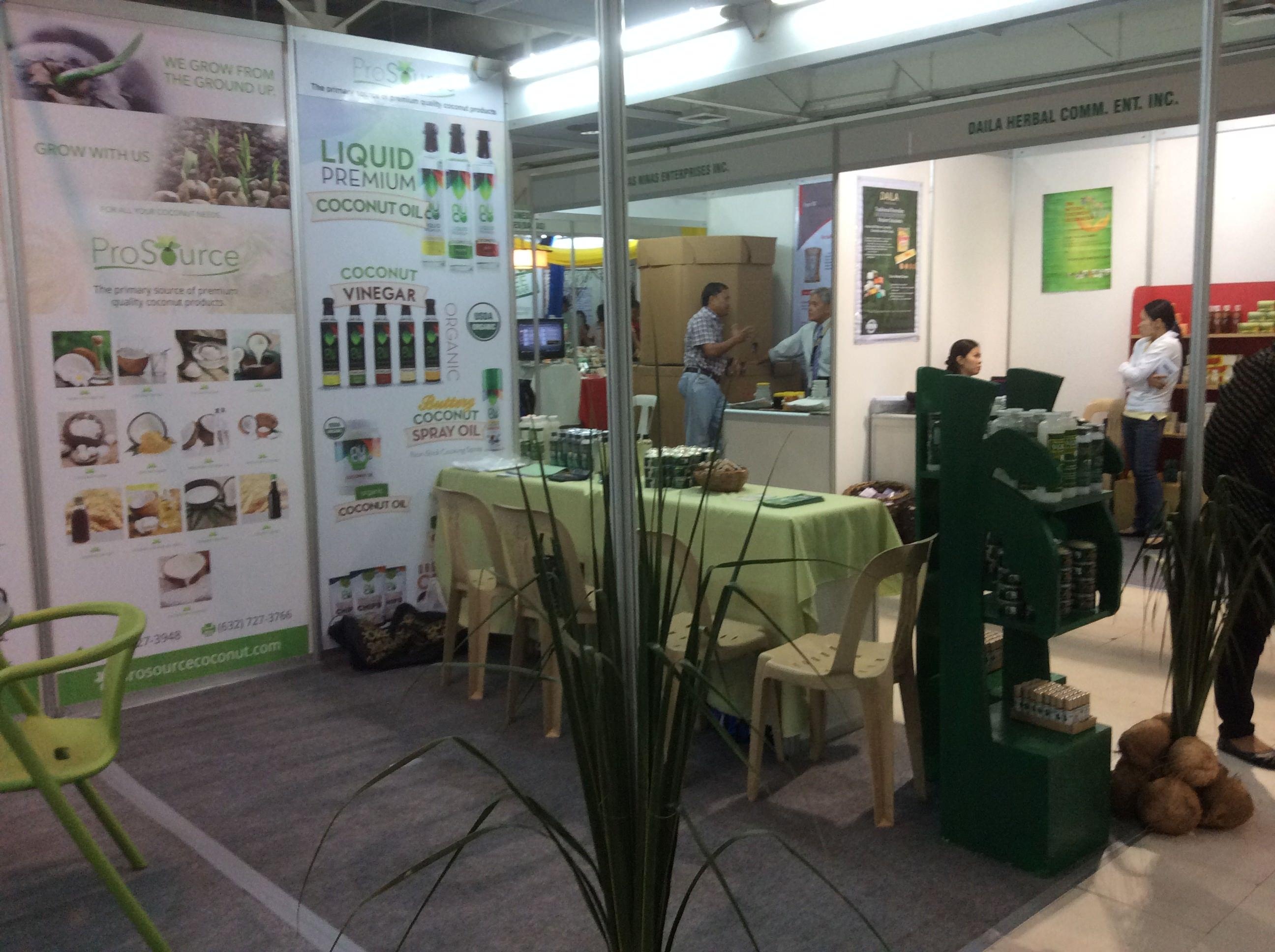 Prosource Booth at Coconut Week held at Megatrade, SM Megamall Aug 27-30, 2015