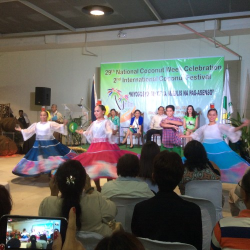 "Opening Ceremonies of the 29th National CoconutWeek Celebration      2nd International Coconut Festival Theme: "" Negosyo Ko-  Sagot sa Pag-Asenso"".  Guest speaker Senator Cynthia Villar."